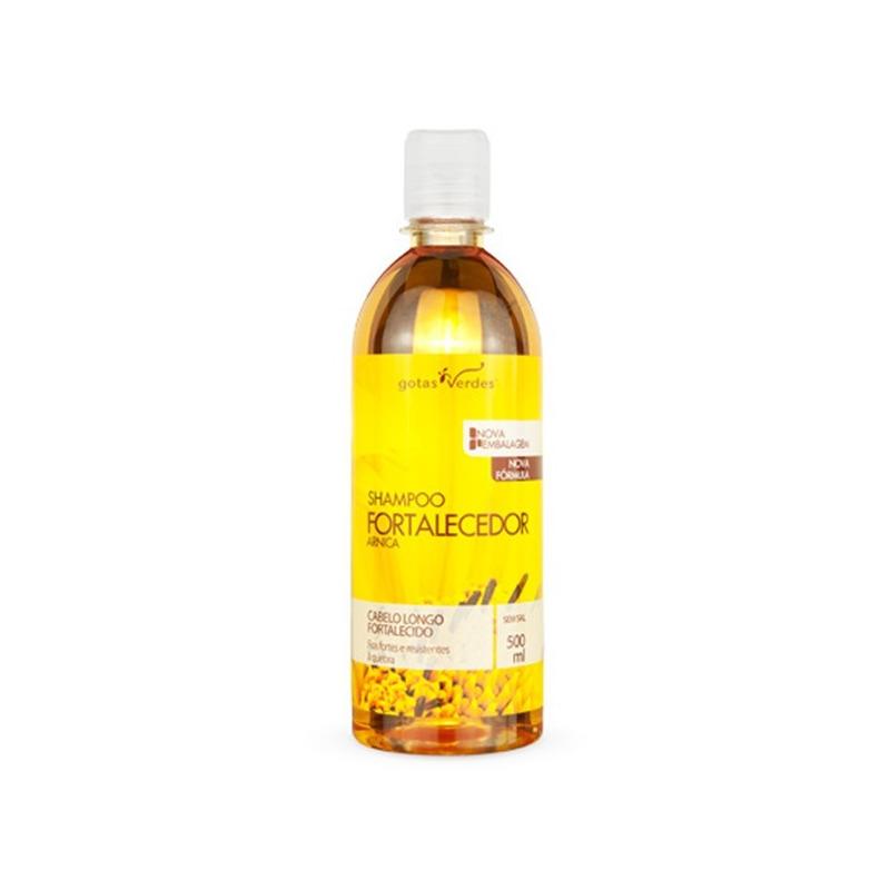 Shampoo Fortalecedor Extrato de Arnica - 500ml Gotas Verdes