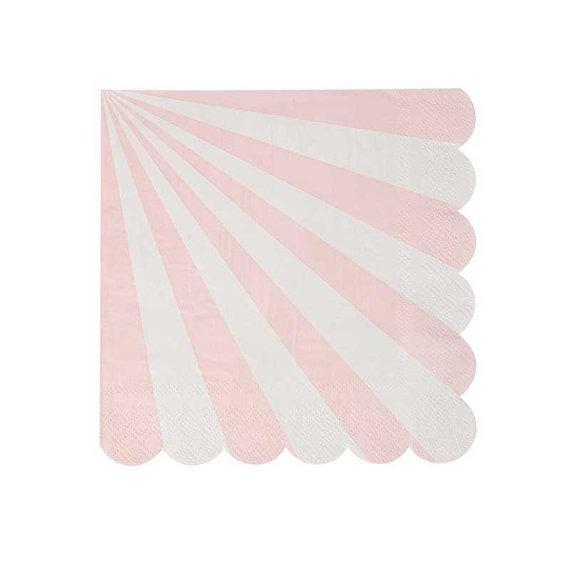 Servilletas Stripe Rosa Pastel
