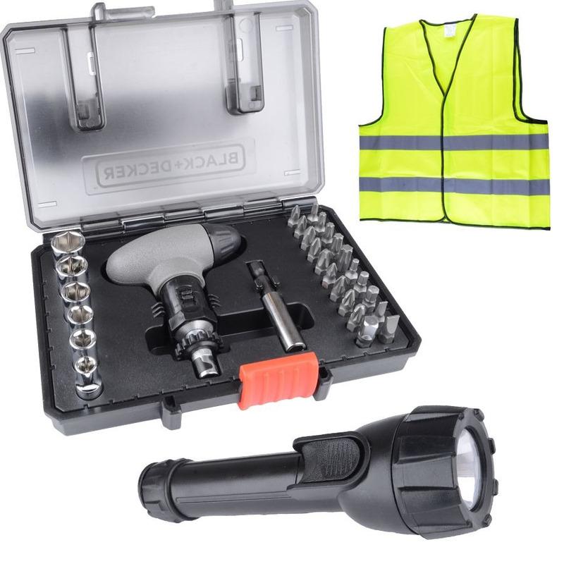 Kit Combo Parafusar Lanterna e Colete - A7224-XJ - Black+Decker