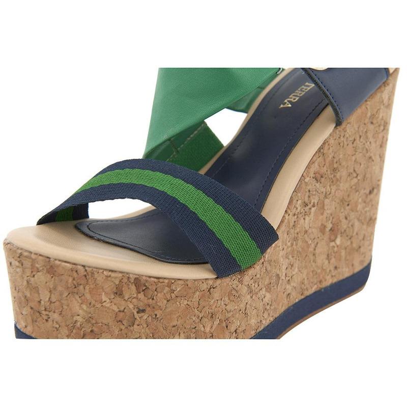 Sandalia Con Plataforma Verde 020833