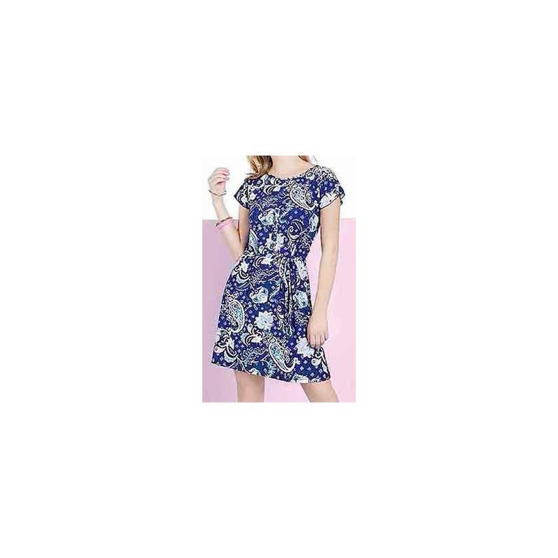 Vestido marino multicolor 015206