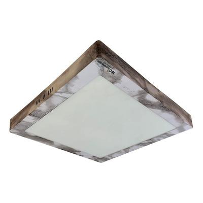 Panel Plafon Cuadrado Led 18w Simil Marmol Luz Desing
