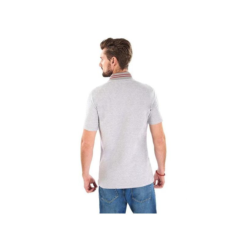 Camisa gris manga corta 014612