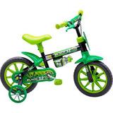 Bicicleta Infantil Nathor Aro 12 Black Masculino 3 A 5 Anos