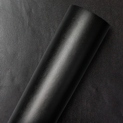 Adesivo para parede  couro preto - Larg. 1,22 m