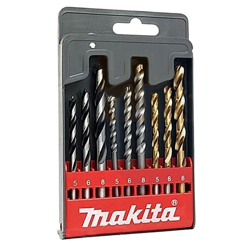 Jogo de 9 brocas p/ Ferro / Madeira / Concreto - D-30069 - Makita