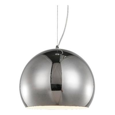 Colgante Cromo 30cm Iluminación Moderna Deco Apto Led Mks