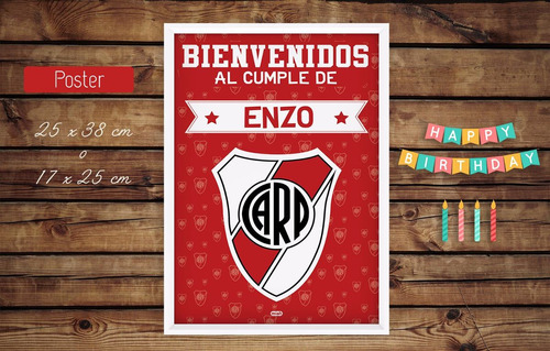 Kit Cumple Imprimible River Plate Candy Bar En Venta En