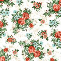 Tecido impermeável Acqua Soleil floral rose vermelho