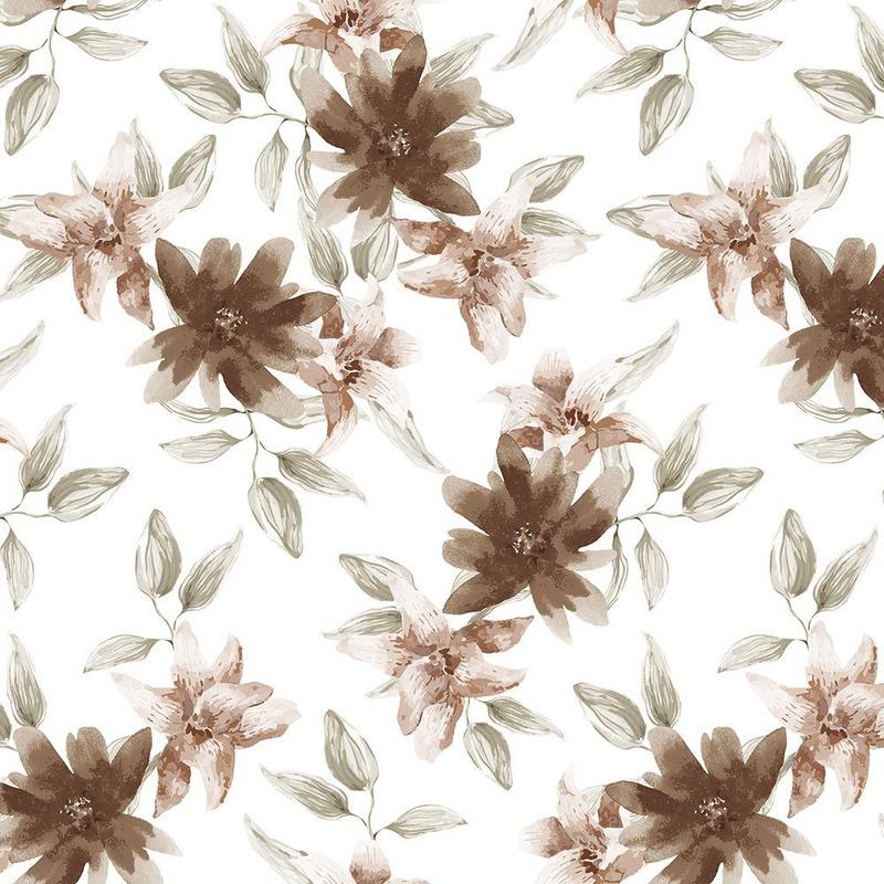 Tecido impermeável Acqua Soleil flora japú bege