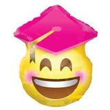 globo emoji egresado rosa 45cm desinflado apto helio