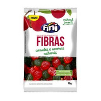 Bala de Gelatina Natural Sweets com Fibras - 18g - Fini