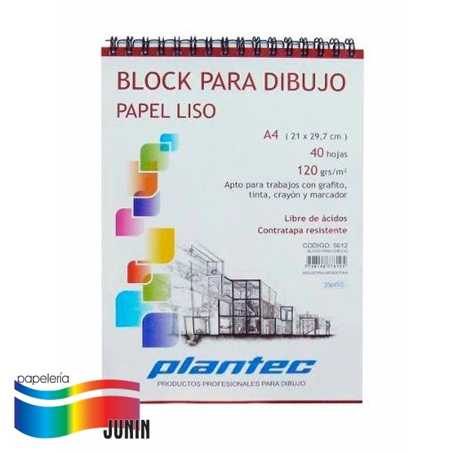 BLOCK PARA DIBUJO PLANTEC 150grs - A4/40hj2