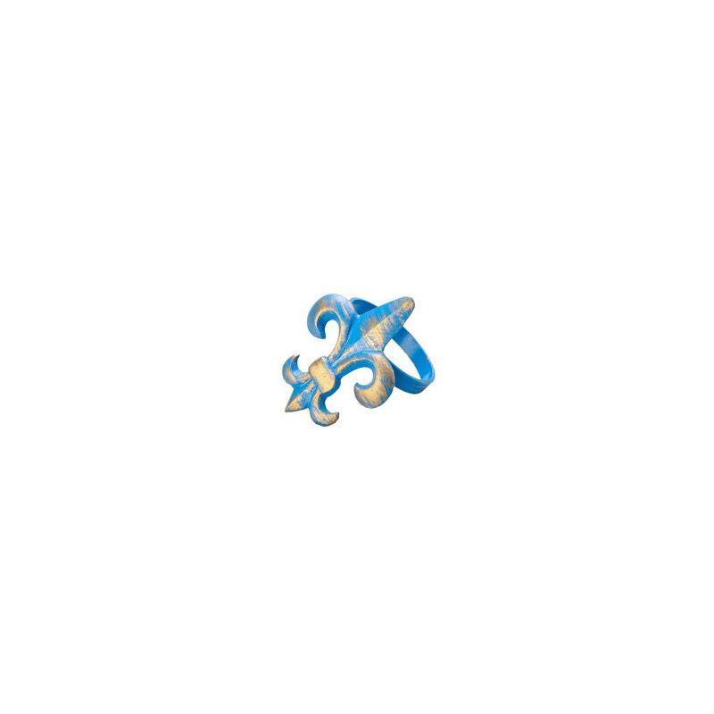 Jogo 4 Anéis para Guardanapo Flor de Lis Azul 4102051