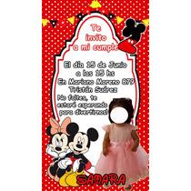 Busca Invitaciones Digitales Mickey Mouse Cumpleanos