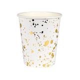 Vasos oro salpicado - fiestas
