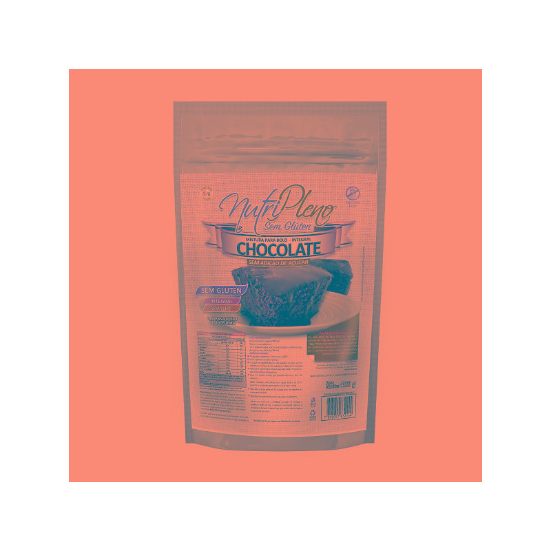 Bolo de Chocolate Integral Sem Acucar - 400g - NutriPleno