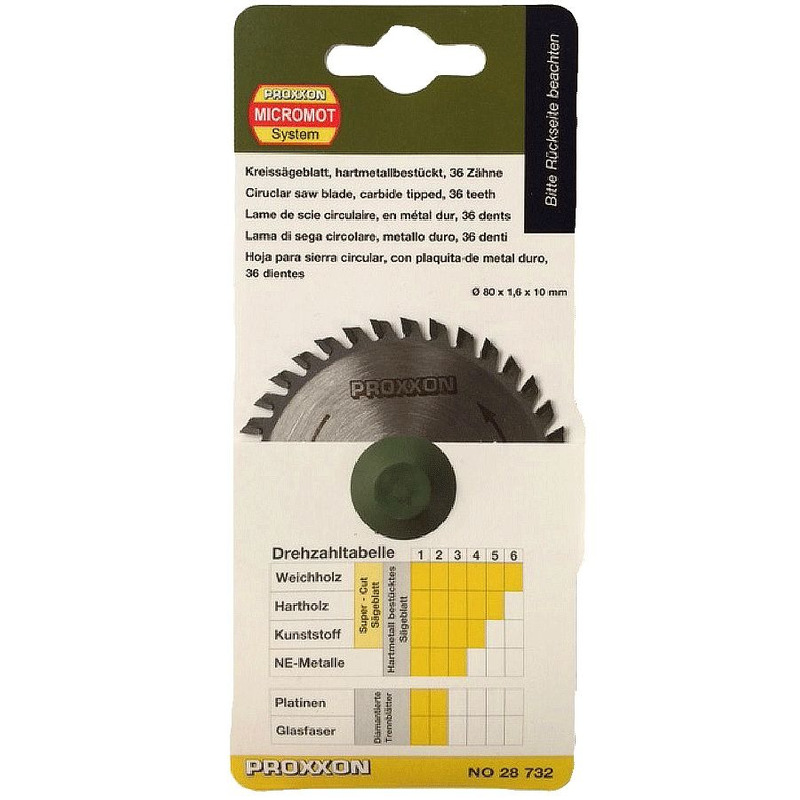 Disco com 36 Dentes em Tungstênio 85mm - 28732 - Proxxon