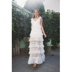 Pre venta Vestido Maxi Julieta Blanco
