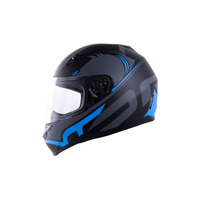 Capacete Norisk FF391 Squalo Azul Fosco Com Viseira Fumê