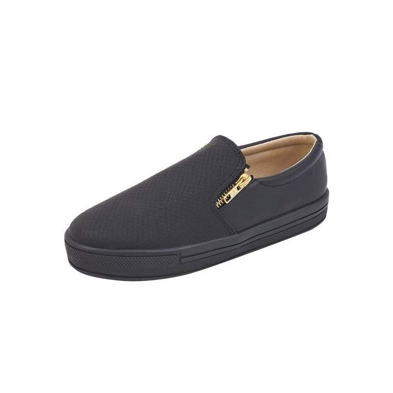 Zapatillas negras con cierre 003024