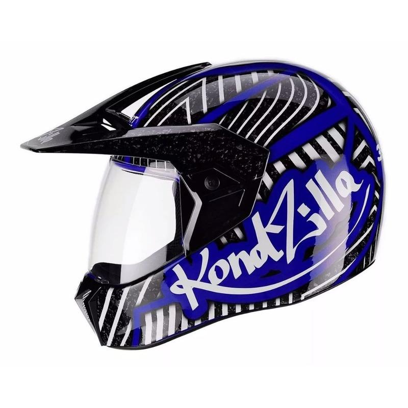 Capacete Bieffe 3 Sport kondzilla Azul Metalizado