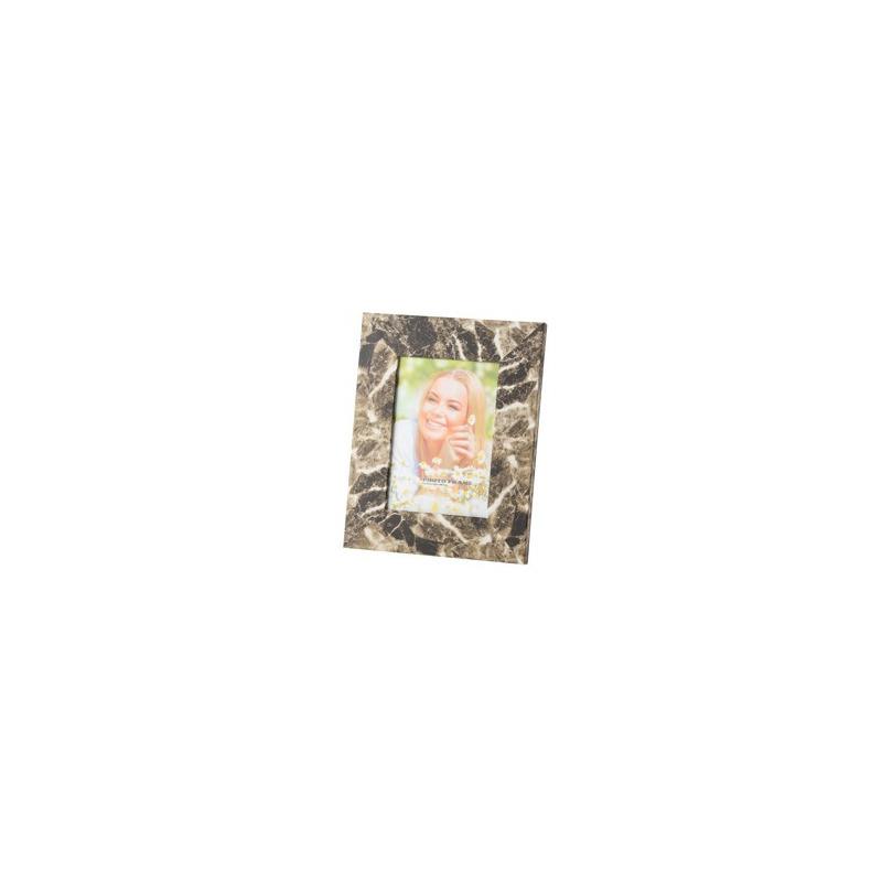 Porta Retrato de Plástico Cor Marmore Marrom 20X25 - Lyor