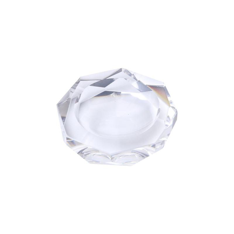 Cinzeiro de Cristal Redondo 10 X 10 X 2,7Cm - Prestige 3109241