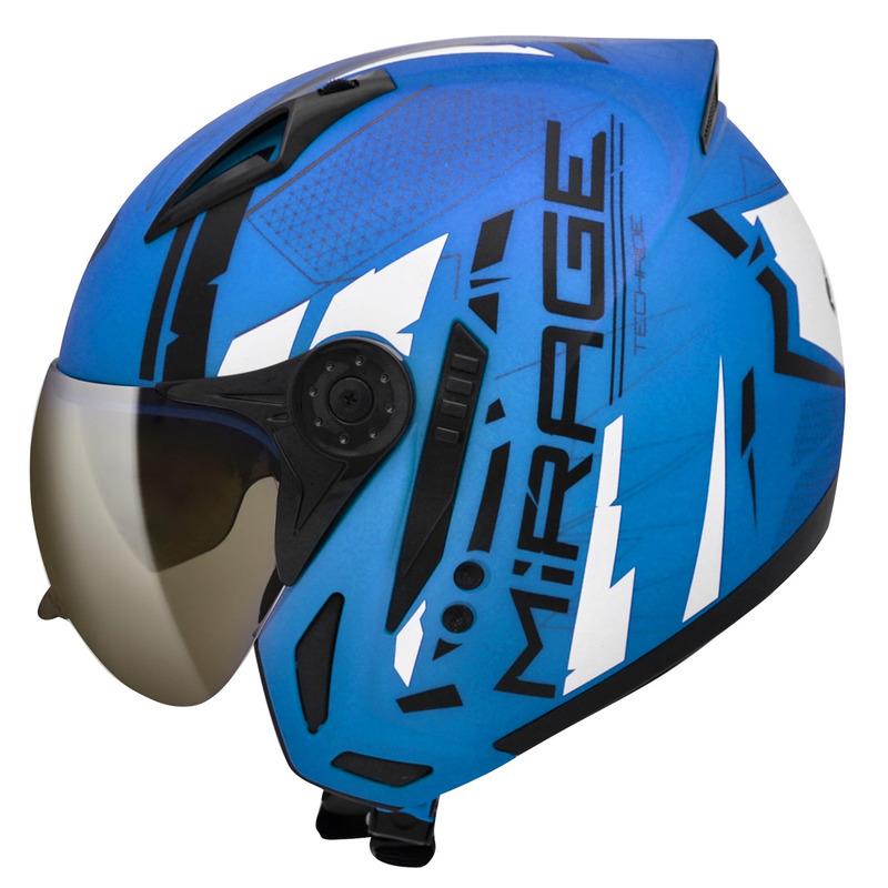 Capacete Peels Mirage Techride Azul Fosco