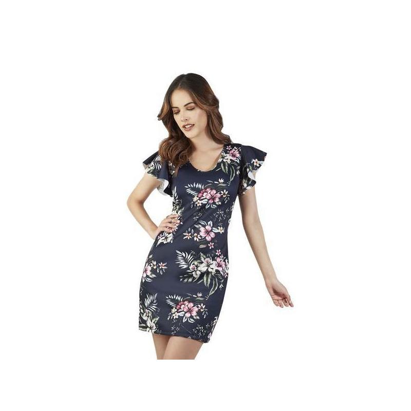 Vestido marino multicolor estampado 015433