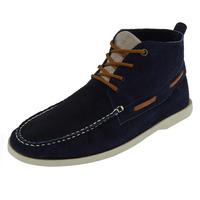 Bota Azul Marino Con Detalle Negro 017522