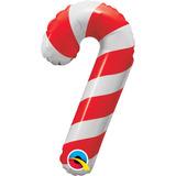 globo caramelo baston navidad 34 cm desinflado