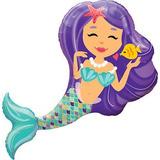 globo sirena lila desinflado apto helio 50cm
