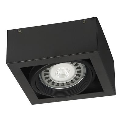 Plafon 1 Luz Cardanico Negro Aro Movil Apto Led Ar111 220v