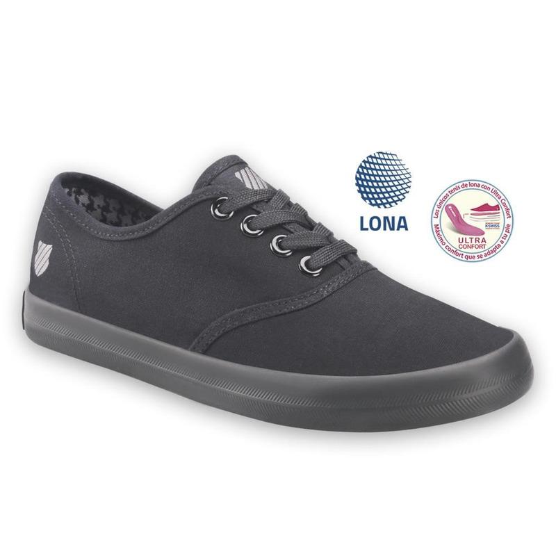Sneakers Kswiss Grises De Tela Kgf033
