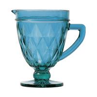Jarra Diamond De Vidro Azul 1L 4106497