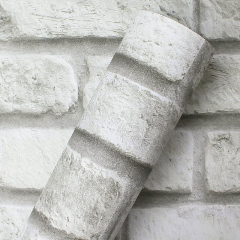 Adesivo para parede tijolos brancos - Decorativo - Larg. 1,22  m
