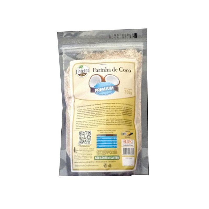Farinha de Coco Premium - 200g - Finococo