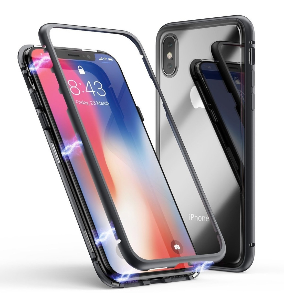 FUNDA MAGNETICA IPHONE XS MAX NEGRA