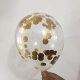 globo confetti dorado DESINFLADO APTO HELIO