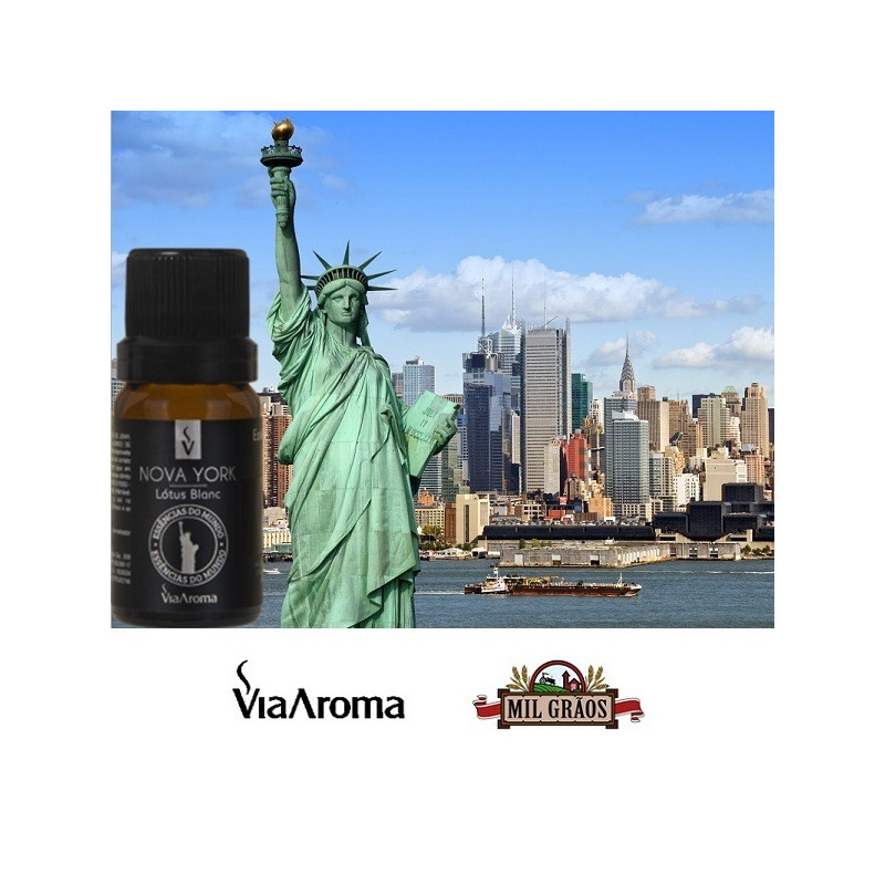 Essencia Cidades Mundo Nova York Lotus Blanc 10ml Via Aroma