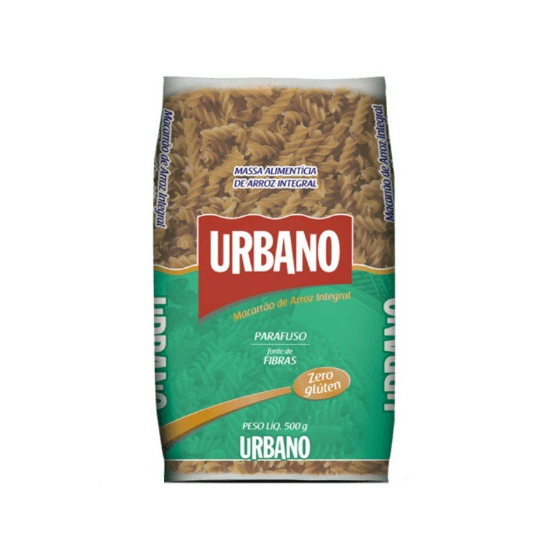 Macarrao de Arroz Integral sem Gluten Parafuso 500g - Urbano