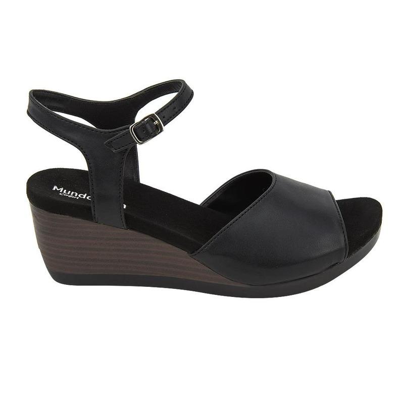 Sandalia De Plataforma Negra 020852