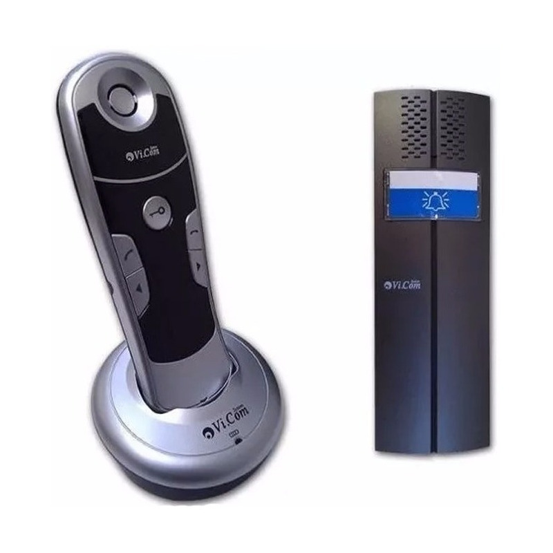Portero Electrico Inalambrico Vi.com 6011f Frente + Telefono