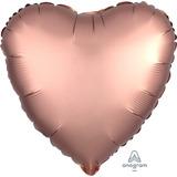 globo corazon cobre satin 45cm desinflado apto helio
