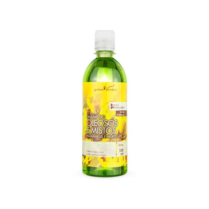 Shampoo Cab. Oleosos/Mistos Hamam+Hortela 500ml Gotas Verdes