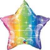 globo estrella arcoiris multicolor 50cm desinflado apto helio /aire