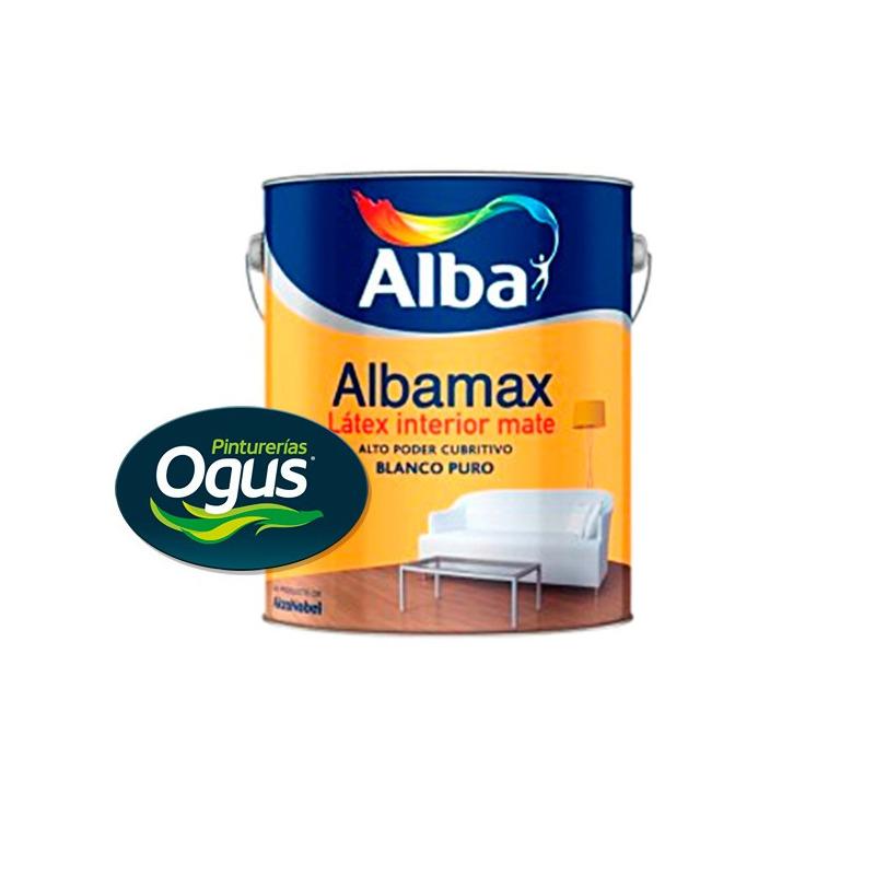 Pintura Latex Interior Antihongo Albamax Alba 4 Lts Ogus