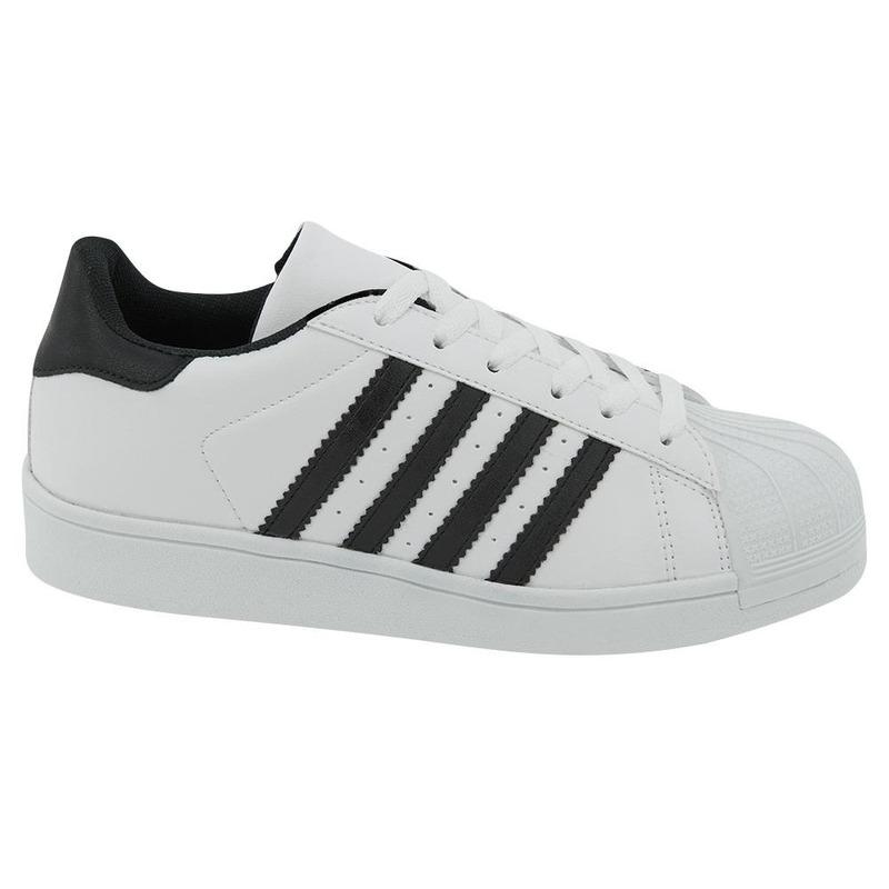 Sneakers Blancos Con Líneas Negras 017605