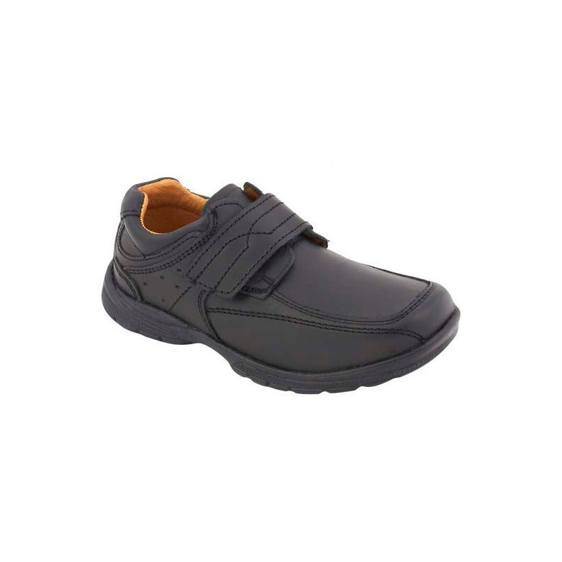 Sneakers negros con velcro 013697